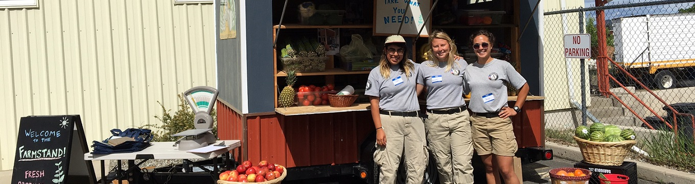 Americorps Volunteers at the HFS Farm Stand