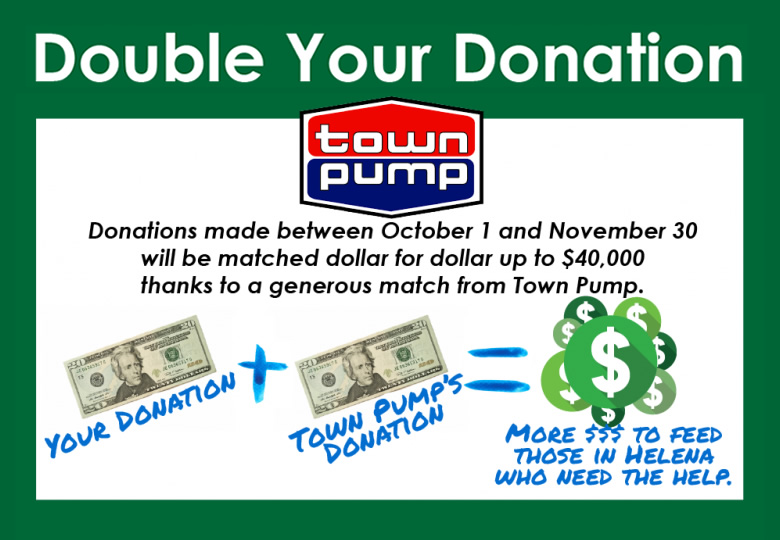Town Pump Double Your Donation Ad