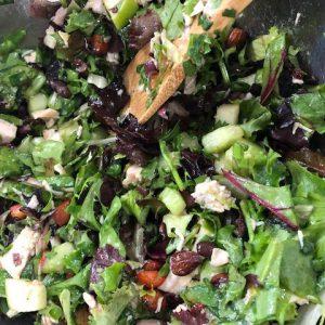 Chopped Green Salad with Turkey