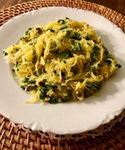 Spaghetti Squash with Lemon Parsley Sauce