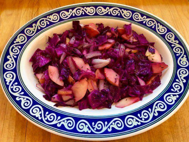 Sauteed Cabbage with Apples and Onions