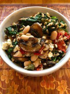 Farro Spinach Salad
