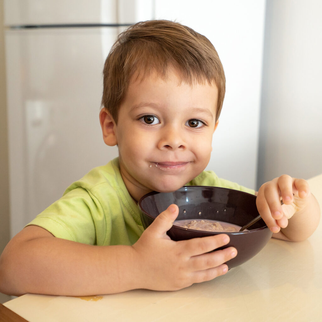 Boy With Cereal