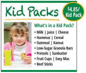 Kid Pack Food List